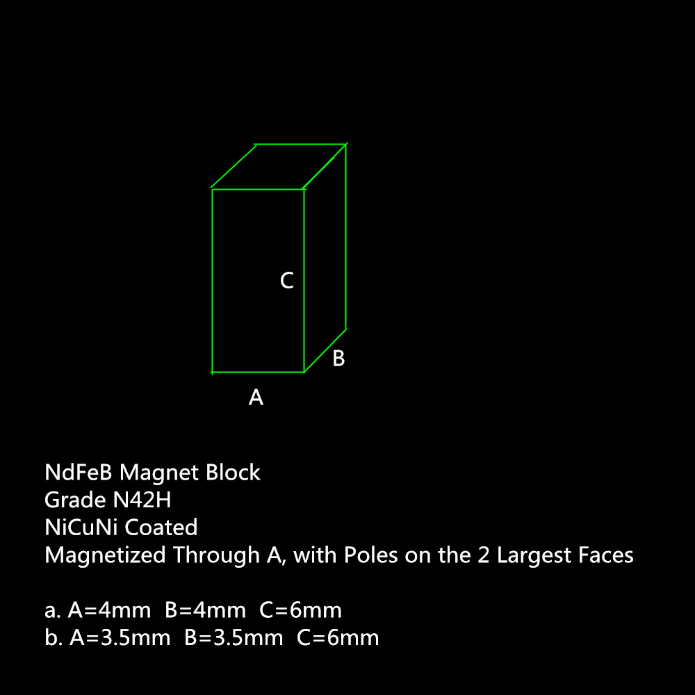 NdFeB Block Magnet 6x4x4 6x3 5x3 5 mm N42H Precision DIY Experiment Customed Size 4000 pieces
