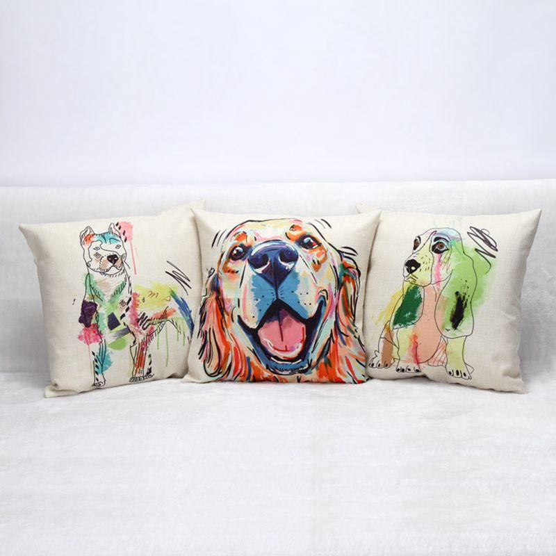 쿠션 패션 홈 인테리어 베개를 던져 자동차 쿠션 커버 베개 유럽의 화려한 강아지는 베개를 던져