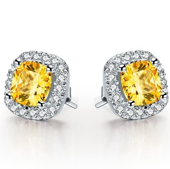 1Ct Cushion Cut Yellow Diamond Stud Earrings for Women 925 Sterling Silver Solitaire Stud Engagement Proposal.jpg 350x350 - 1Ct Cushion Cut Yellow Diamond Stud Earrings for Women 925 Sterling Silver Solitaire Stud Engagement Proposal Jewelry
