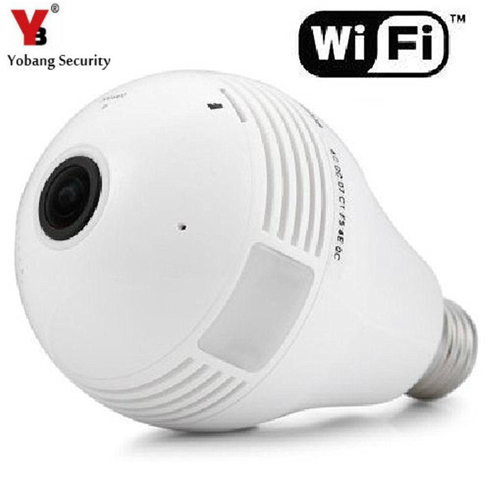 bilder für YobangSecurity 960 P Fisheye Panorama Wifi Wireless P2P Netzwerk IP Kamera Led-lampe Licht Home Security System Für IOS Android