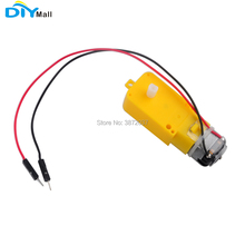 1pcs DC Gearbox Motor TT Motor 200RPM DC 3-6V 1:48 Male Connector 200mm 28 AWG Cable for Arduino Smart Car DIYmall 40gb 500tb 5mm shaft dia pernament magnetic 6v 12v dc gearbox geared motor 3 7 30 50 100 130 200rpm