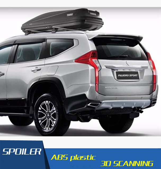 For Mitsubishi Pajero Sport Spoiler Abs Material Car Rear Wing