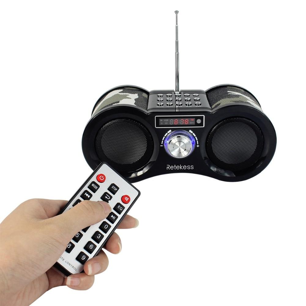 TIVDIO V-113 Camouflage Stereo Digital FM Radio USB/TF Karte Lautsprecher MP3 Musik-Player Mit Fernbedienung Empfänger Radio f9203M