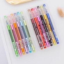 Купить 12 видов цветов/Pack корейский Канцелярские Творческий Алмаз ручка каваи гелевая ручка