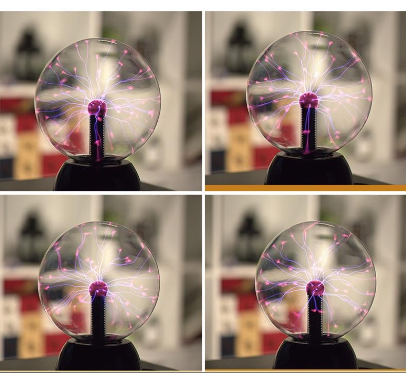 Nieuwigheid Magic Plasma Bal Verlichting Lightning lamp Inductie ...