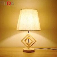 24X41 см туда Спальня тумбочка лампа современная настольная лампа Nordic твердой древесины Ретро творческий исследование отель лампы