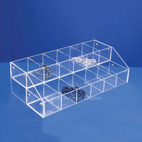 12 Grid Acrylic Separate Slots Earrings Storage Box Ring Bracelet necklace Clip Holder Jewelry Accessories Case Organizer