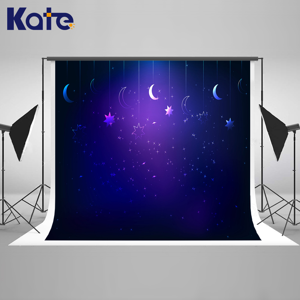 Kate 10x10ft Blue Birthday Photography Backdrops Children Dream Backgrounds For Photo Studio Moon Baby Photography Background