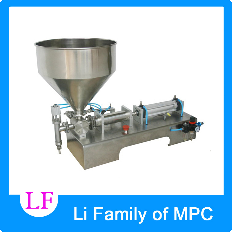 5-100ML Pneumatic pasty food filling machine sticky pasty filler stainless SS304,hot sauce bottling equipment,beverage packer filling head of filling machine filling device nozzle pneumatic cylinder filler spare part of pneumatic filling machine