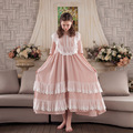 Womens Sleeping Dress Retro Vintage Style Nightgowns Cotton Nightdress Female Nightgown Sweet Princess Palace Home Dress Clothes