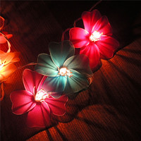 20Led 7cm Fairy White Morning Glory Battery Operated String Lights 2.5m LED Decoration For Christmas Garland New Year gerlyanda