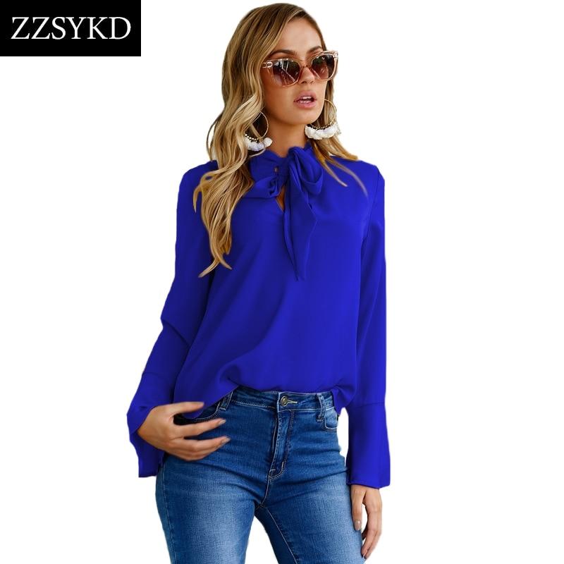 ZZSYKD Blusas de gasa de las mujeres de verano larga camisa de manga - Ropa de mujer