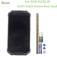 Roson LCD Display and Touch Screen With Frame Assembly Replacement With Tools for AGM X2 X2 SE