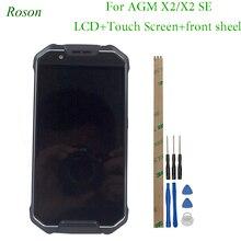 Roson para agm x2 x2 se 1920*1080 ip68 5.5 polegadas tela lcd com quadro + conjunto de digitalizador de tela de toque vidro do painel de reparo