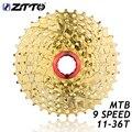 ZTTO 9s 27s скоростная Золотая кассета свободного колеса MTB горный велосипед части 11-36T для деталей M370 M430 M4000 M590 M3000