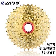 ZTTO 9s 27s Speed Gold Golden Freewheel Cassette MTB Mountain Bike Bicycle Parts 11-36T for Parts M370 M430 M4000 M590 M3000 ztto 9s 27s speed gold golden freewheel cassette mtb mountain bike bicycle parts 11 36t for parts m370 m430 m4000 m590 m3000