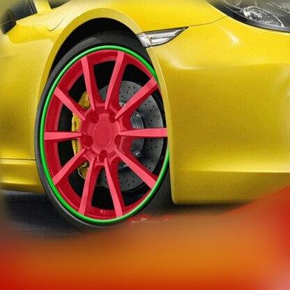 8 meter Bilhjul Trim Alloy Wheel Arch Protector Rim Guard Adhesive Roll Car Styling För Hyundai ix35 iX45 iX25 i20 i30 Sonata