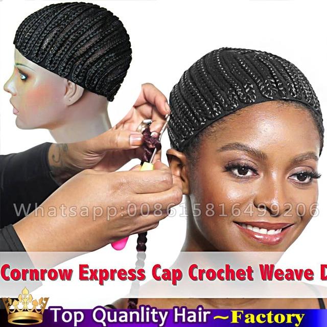 New Hairnet Braided Full Cap For Crochet Braids Or Weaves Wig Caps