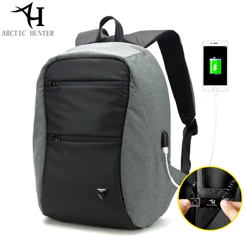 ARCTIC HUNTER Men's Easy Casual Travel Notebook Laptop Backpack Nylon Multifunction Backpack Bag 2018 Male arctic hunter 15 6 laptop business backpack men casual travel bag nylon waterproof backpack school bag women notebook male gift