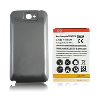 Brand New Replacement Extended 6500mAh Battery With Back Cover For Samsung Galaxy Note 2 N7100