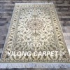 Yilong 4 X6 Handwoven Oriental Wool Silk Persian Area Rug Traditional Hand Made Wool Carpet WY2079S4x6