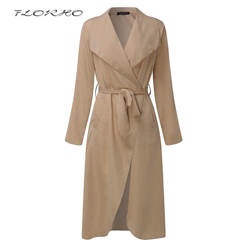 2018 Women Autumn Spring Fashion Coat Jacket Plus Size Elegant Cardigan Belt Solid Long Sleeve Office Ladies Blouse Outwear 5XL