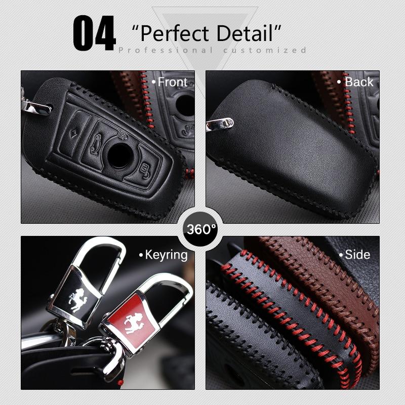 2018 Nuevo Genuine Leather Car Key Case cubierta para BMW 520 525 F30 - Accesorios de interior de coche - foto 6