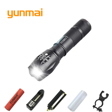 Powerful XML T6 XM-L2 LED Tactical Torch Portable LED Flashlight Lantern use 1x18650 OR 3xAAA Rechargeable Battery Hunting Light 502b led flashlight cree xml xml t6 xm l2 led camping lamps tactical torch 2200 lumen lanterna