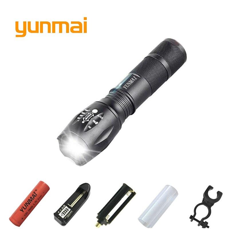 Puissant XML T6 XM-L2 LED Torche Tactique De lampe-Torche MENÉE Portative Lanterne utiliser 1x18650 OU 3xaaa Batterie Rechargeable lumière de chasse