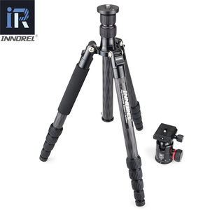 Image 3 - RT55C Professional 10 Layers Carbon Fiber Tripod video travel portable Monopod with ball head for DSLR camera Max Height 161cm