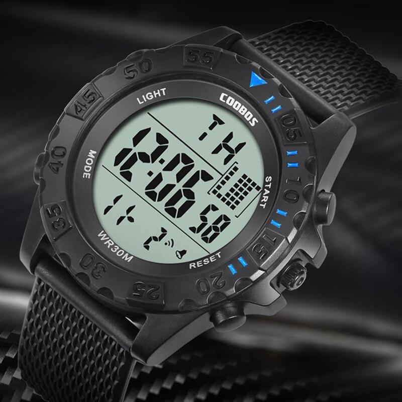 Sport-Watches Display Date Week Digital Military Electronic Waterproof Top-Brand Alarm-Clock