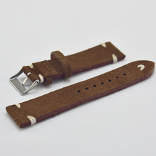 Handmade brown white velvet leather strap comfort 18mm unisex high quality 2018 new #C
