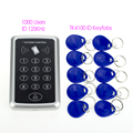 RFID 125KHz Door Access Control system 1000 users RFID keypad with 10 pieces RFID Key Fobs