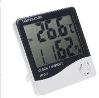 New 1PC White Temperature Instruments Indoor LCD Digital Temperature Humidity Meter HTC 1 H596 Free Drop