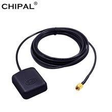 Adaptador de Antena do GPS do carro Auto Antena GPS Receptor RP-SMA 3 Conector Macho 3M cabo para DVD de Navegação Câmera de Visão Noturna GPS do carro