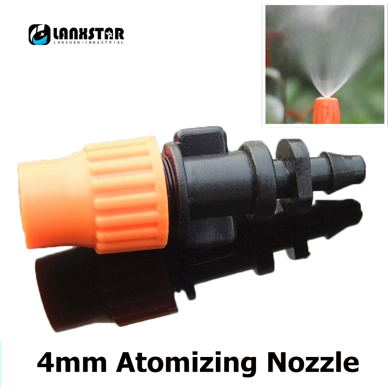 Single Head Micro Spray Nozzle Atomizing Nozzles 4mm Joint Adjustable Closed Refraction Pump Irrigation Gardening Atomizer