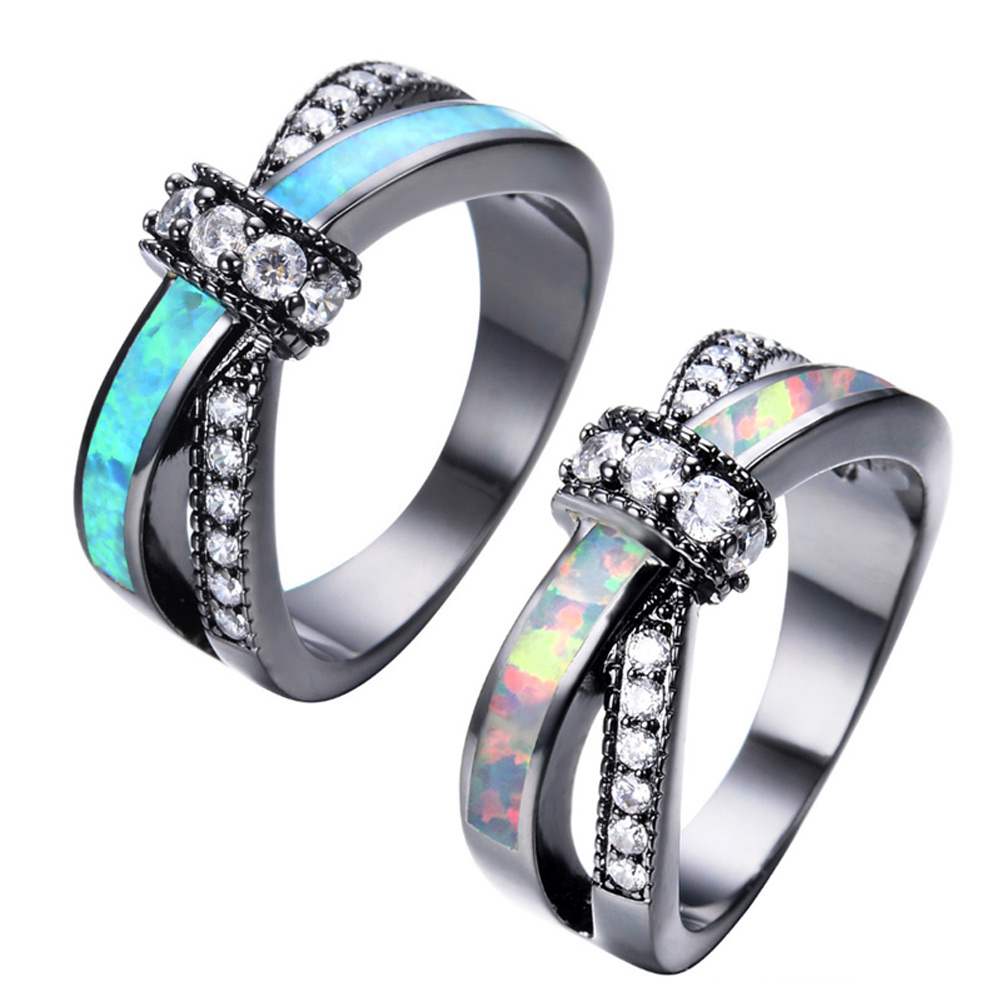 Women Lady Cross Finger Rings Copper Zircon Luxury Wedding Party Engagement Love Rings Jewelry Accessories CX17