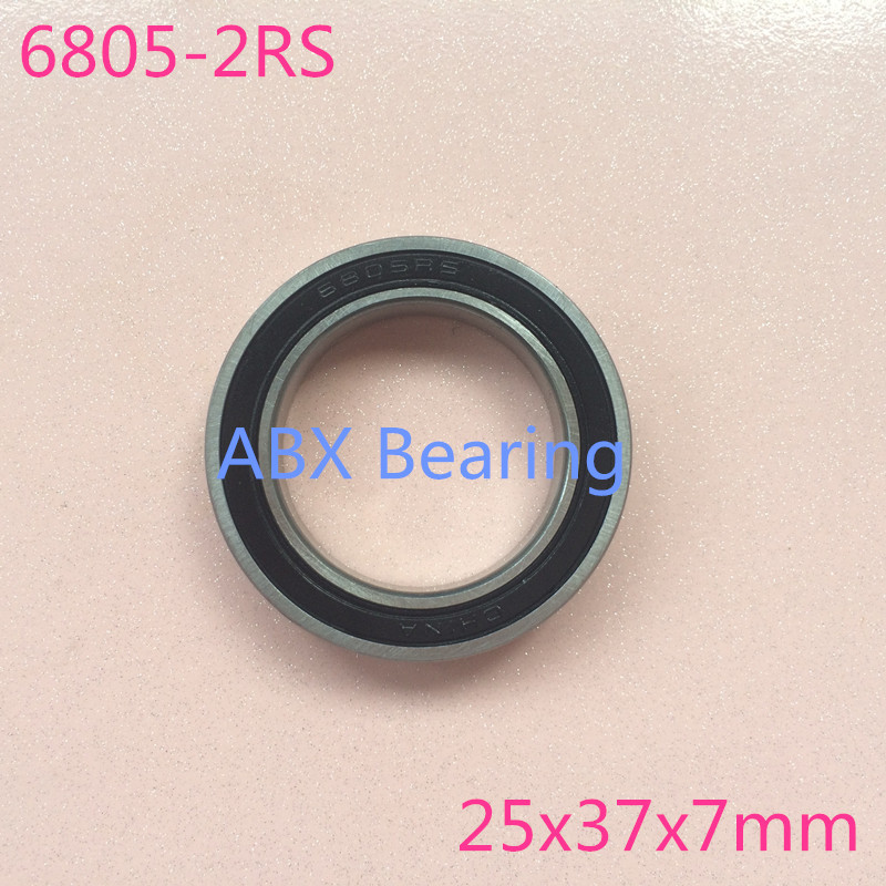 2pcs/lot S6805-2RS S6805 2RS s6805 6805 stainless steel hybird ceramic bearing 25x37x7mm ...