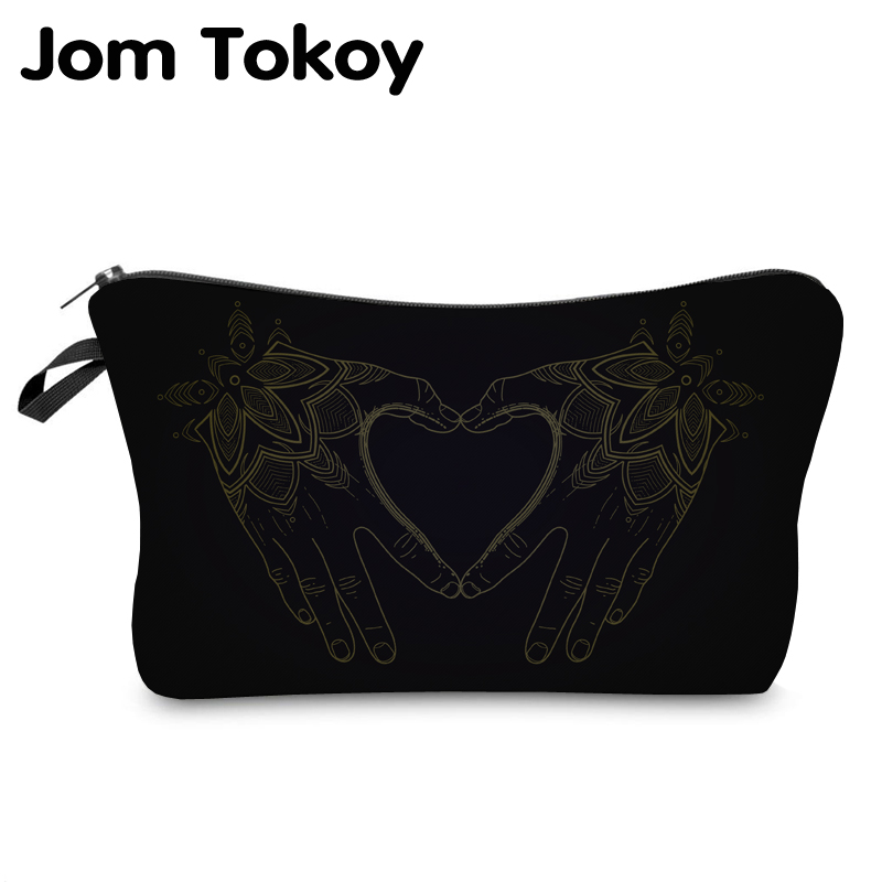 Jom Tokoy 2019 Cosmetic Organizer Bag Make Up Printing Love Cosmetic Bag Fashion Women Brand Makeup Bag Hzb918