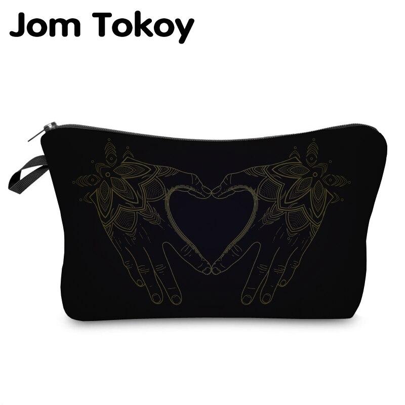 Jom Tokoy  Cosmetic Organizer Bag Make Up Printing Love Cosmetic Bag Fashion Women Brand Makeup Bag Hzb918