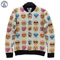 Mr.1991INC men/women 3d jacket expression Emoticons symbols printed Smile faces cotton jacket for men casual coat outwear