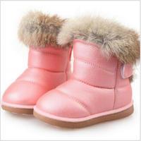 Dzieci Buty Gumowe Buty Zimowe Dla Dzieci Dzieci Zagęścić Pluszowe Buty Śniegu Dziecko Ciepłe Skórzane Krótkie białe buty Dla Niemowląt