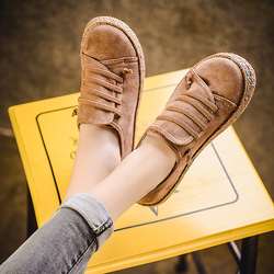 New Spring Women Flats Shoes Loafers Round Toe Wide Shallow Slip-on Casual Lady Flats Shoes Oxford Shoes For Women