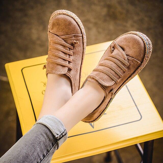 Nuevos zapatos planos de primavera para mujer, mocasines de punta redonda, zapatos planos informales de mujer, zapatos Oxford para las mujeres