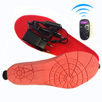 Electric Heating Warmer Insoles Woman Shoes Free Shipping Winter Super Warm Boots Insoles Remote Control For
