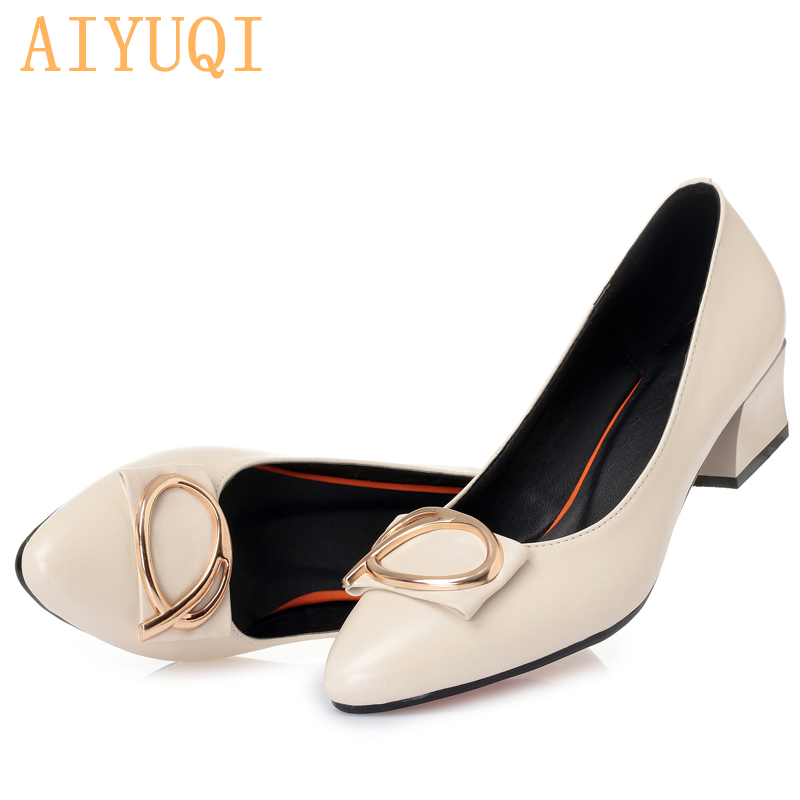 AIYUQI Women 39 s shoes 2019 new style with formal attire work shoes office fashion black shallow mouth women 39 s party shoes in Women 39 s Pumps from Shoes