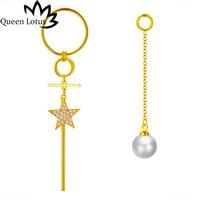 Reine Lotus 2018 nouveau femmes Bijoux personnalité De la Mode tendance conception Perles longue perle gland étoiles lady boucles d'oreilles fille cadeau partie