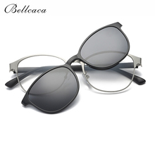 278b2c1f1d Bellcaca Spectacle Frame Men Women Eyeglasses Polarized Sunglasses Clip On  Computer Optical Clear Glasses For Male Female BC326