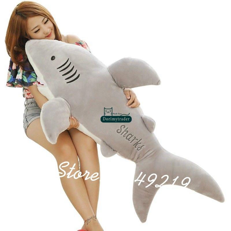 Dorimytrader Giant Soft Simulation Animal Shark Plush Toy Stuffed