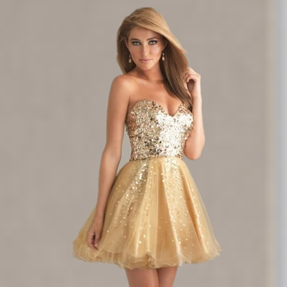 High Quality Short Gold Prom Dresses-Buy Cheap Short Gold Prom ...